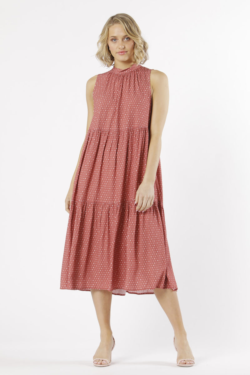 CASABLANCA MIDI DRESS - BERRY SPOT