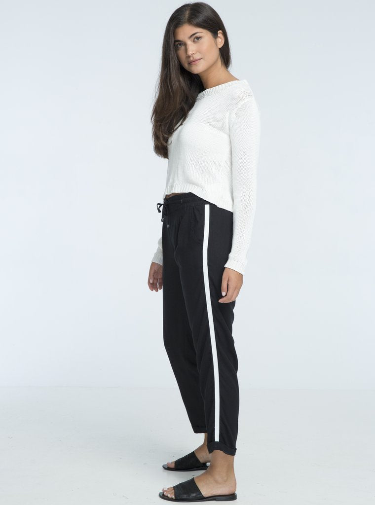 ORCHID LONG PANTS - BLACK