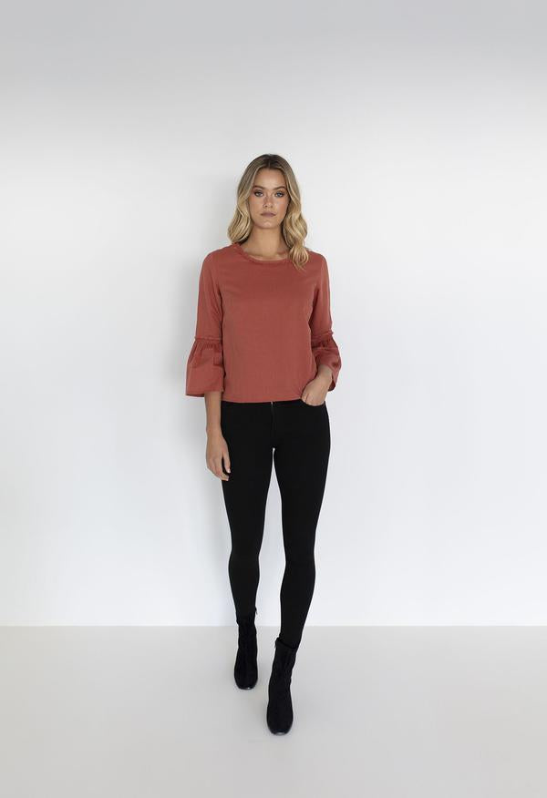 COCO BLOUSE - RUST