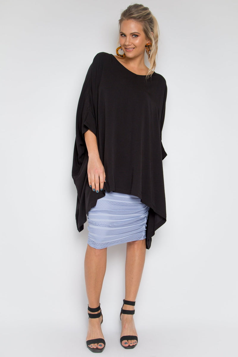THE ESSENTIAL TOP - BLACK BAMBOO