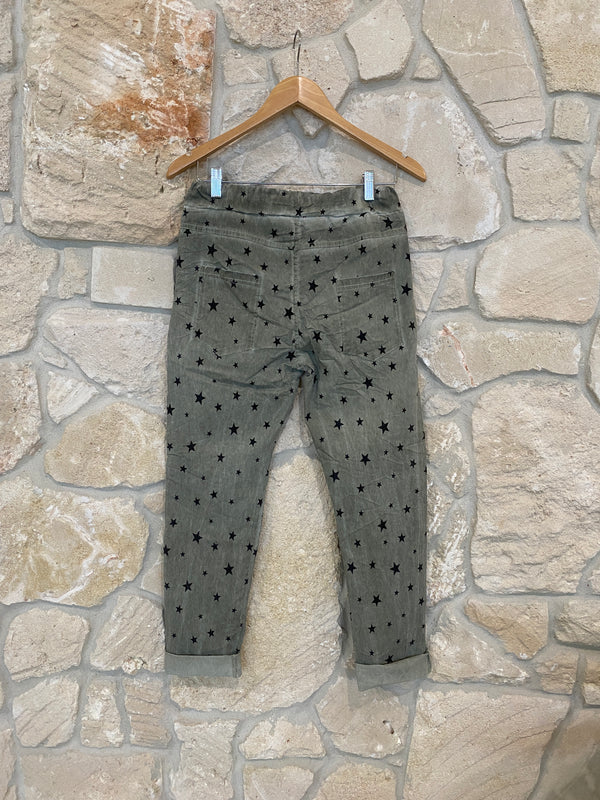GALAXY STAR PANT - OLIVE