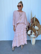 JUNA LAYERED SKIRT - BLUSH