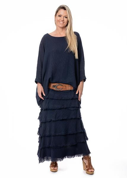 JUNA LAYERED SKIRT - NAVY
