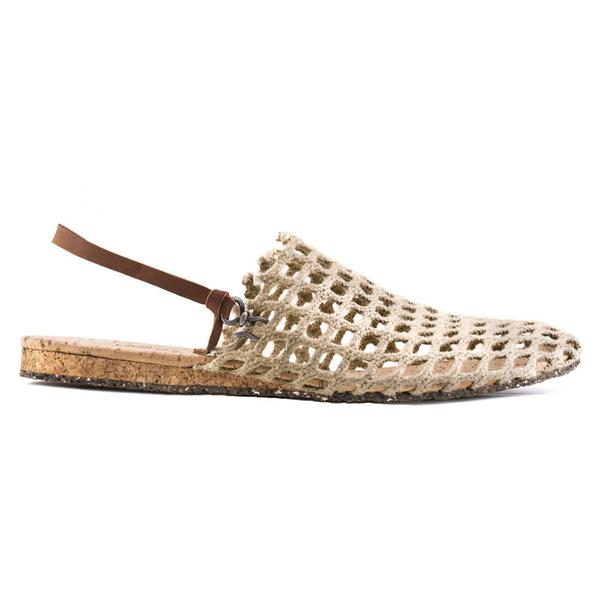 FISHING NET SANDALS - NATURAL
