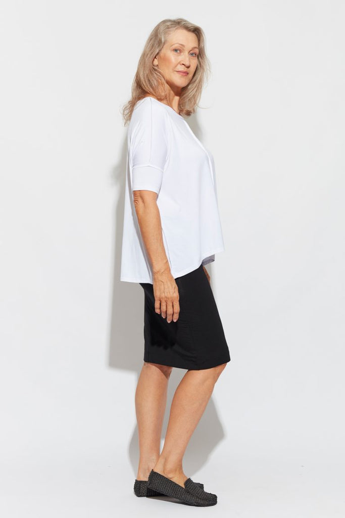 STELLA SLOUCH TEE - WHITE