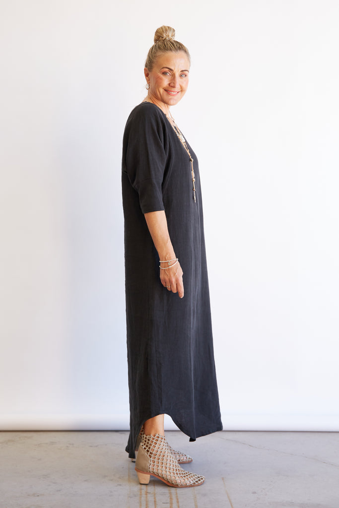ST PAULS DRESS MAXI - BLACK
