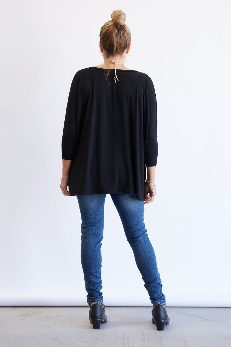 BAMBOO HINLEY SLEEVED - BLACK