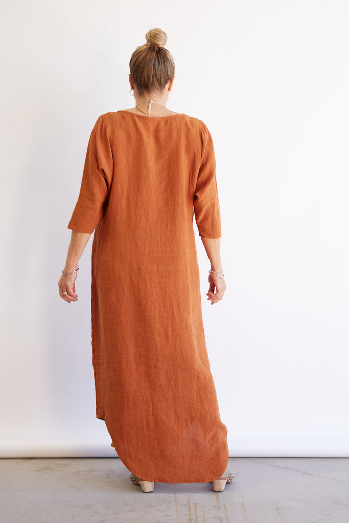 ST PAULS DRESS MAXI - RUST