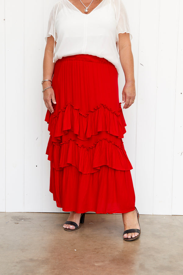 LEXI SKIRT - RED