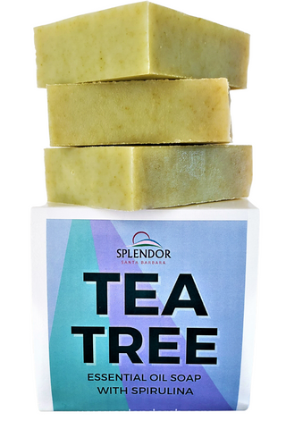 Tea Tree (10.5 oz) Coconut Oil Face & Body Bar Soap -Handmade USA, Vegan, Natural, Moisturizing. - Splendor Santa Barbara