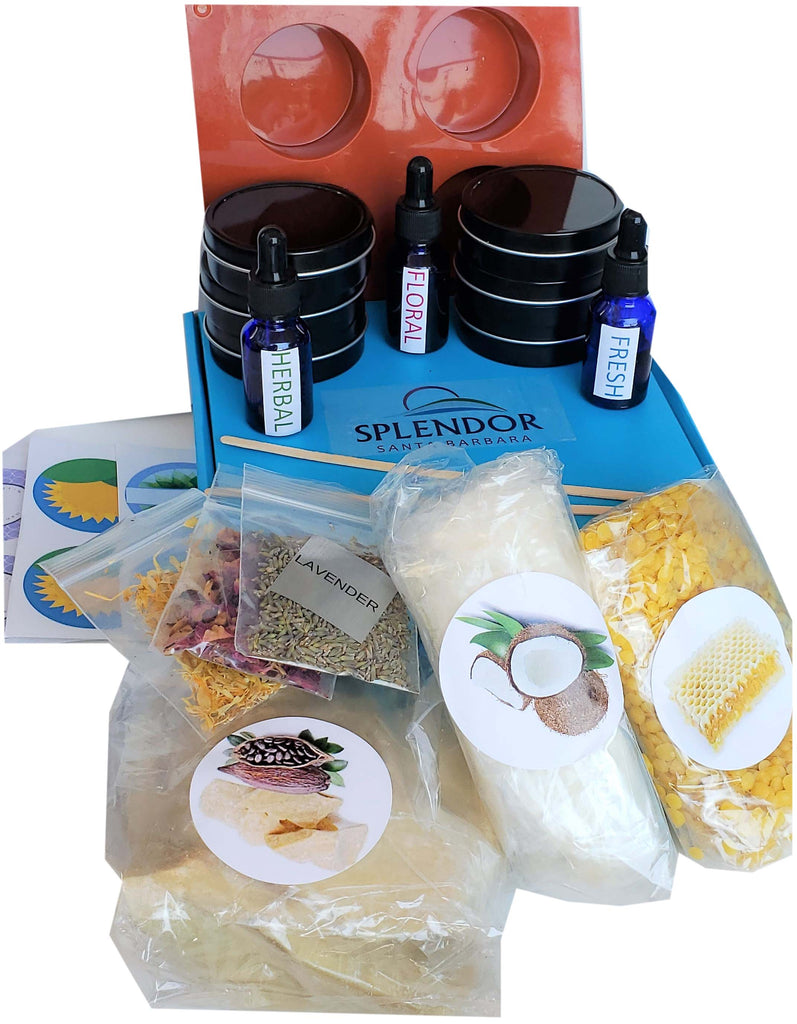 Splendor DIY Solid Lotion Bar Making Kit - Cosmetics Making Supplies Kits, Solid Moisturizer Bar - Splendor Santa Barbara