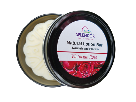 Lotion Massage Bar Salve Hair, Nails, Skin, Hands and Feet Remedy (Victorian Rose) - Splendor Santa Barbara
