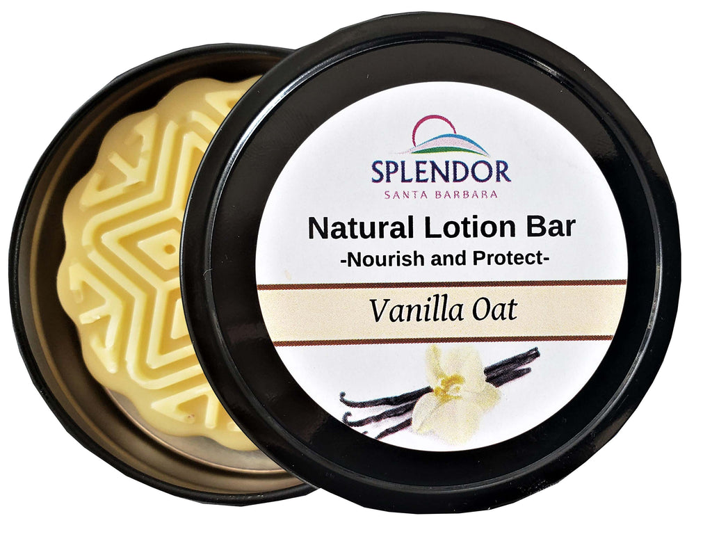 Lotion Massage Bar. Hair Nails Skin, Hands and Feet Remedy - ( Vanilla Oat ) - Splendor Santa Barbara