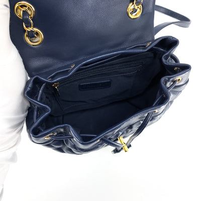 Chanel Quilted Small Urban Spirit Backpack Navy