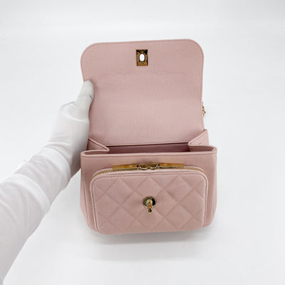 Chanel Caviar Small Business Affinity Bag Dusty Pink