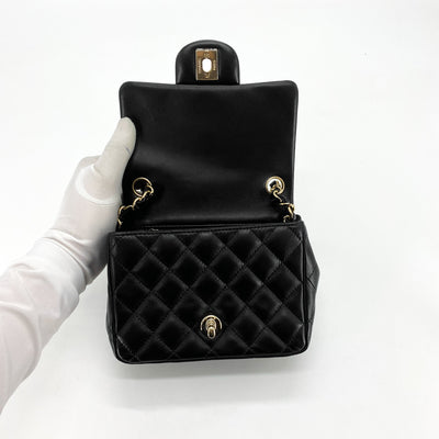 Chanel Quilted Square Mini Black