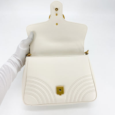 Gucci GG Marmont Small Top Handle Bag Off-white