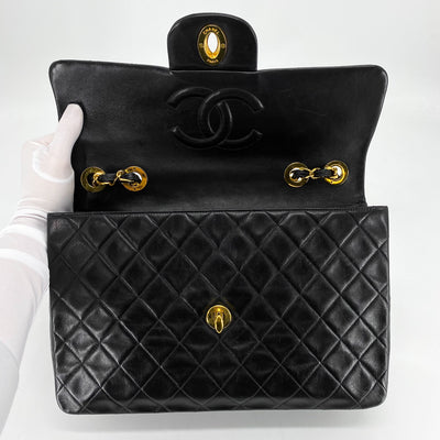 CHANEL Quilted Vintage CC Maxi/Jumbo XL Black