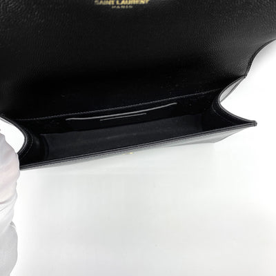 Saint Laurent Medium Kate Clutch Black