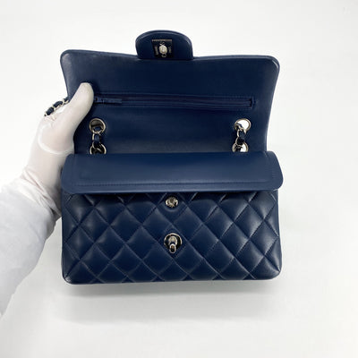 Chanel Quilted Classic Flap Small Dark Blue
