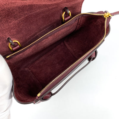 Celine Nano Belt Bag Burgundy
