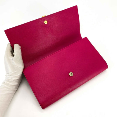 Saint Laurent Y Clutch Fuchsia
