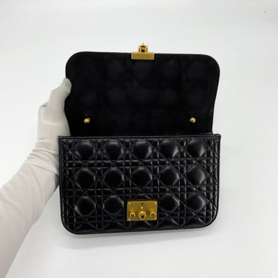 Dior Dioraddict Leather Clutch on Chain Black