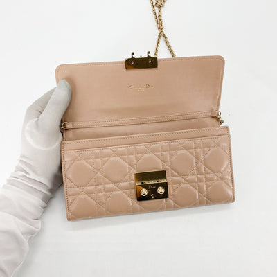 Dior Diorama Clutch On Chain Dusty Pink