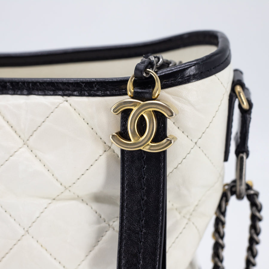 Chanel Gabrielle Hobo Medium White/Black
