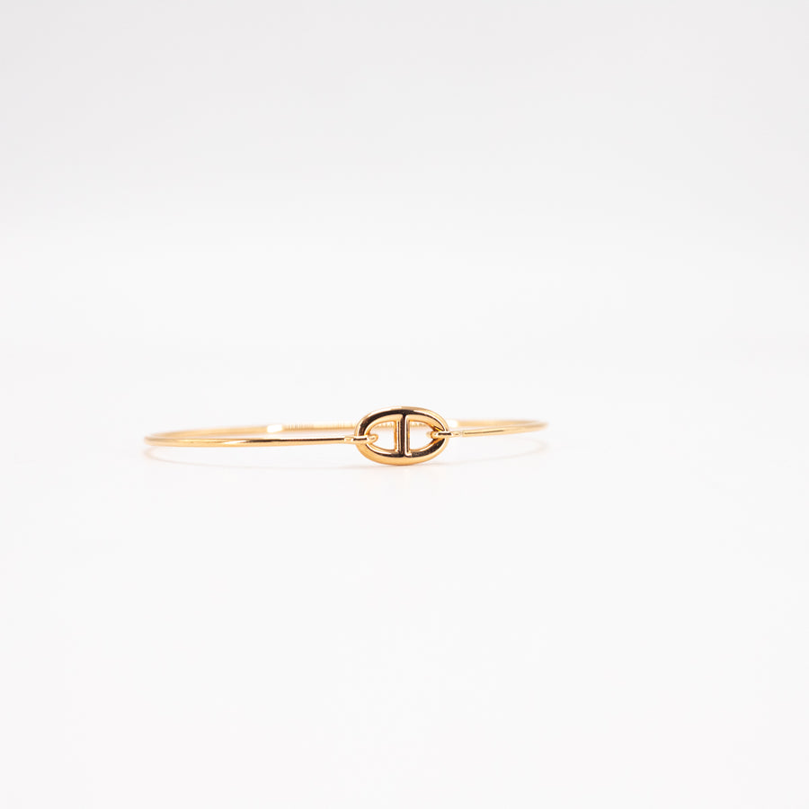 Hermes Ronde Chaine d'Ancre bracelet, small model 18k rose gold bangle/bracelet