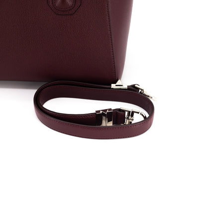 Givenchy Antigona Small Maroon Grained Calfskin