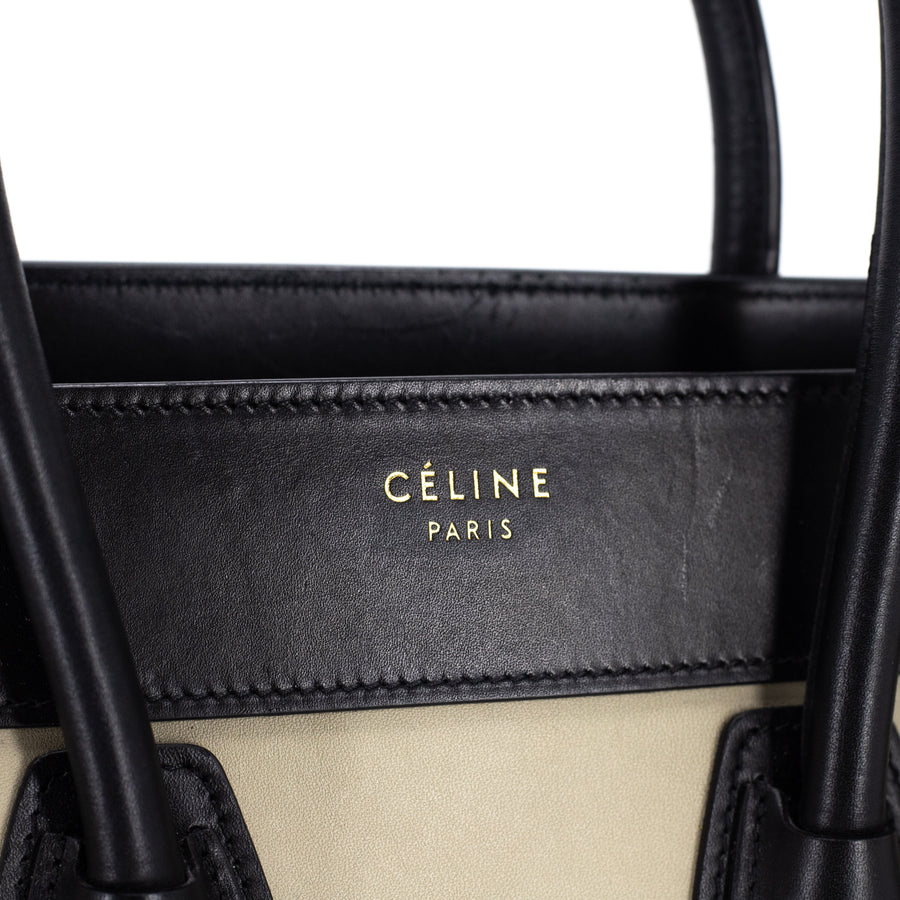 Celine Luggage Micro Tricolour Black