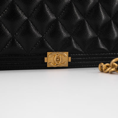Chanel BOY WOC Wallet On Chain Black