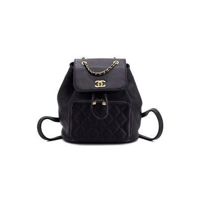 Chanel Black Caviar Backpack
