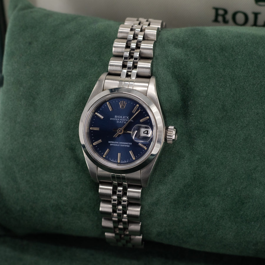 Rolex Oyster Perpetual Date Silver 26mm
