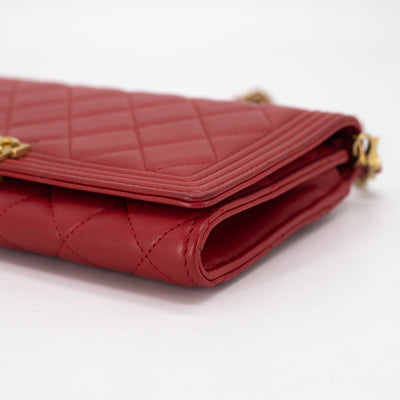 Chanel Quilted O-Mini Bag Red