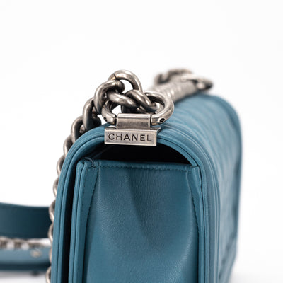 Chanel Quilted Small Boy Blue