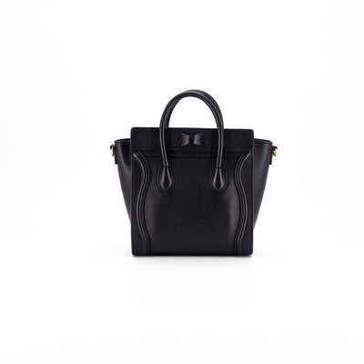 Celine Nano Luggage Black