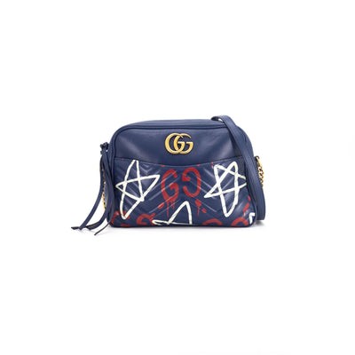 Gucci Marmont Camera Bag Navy