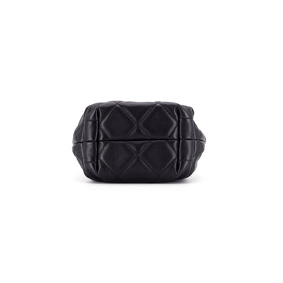 Chanel Quilted Bucket Bag Black