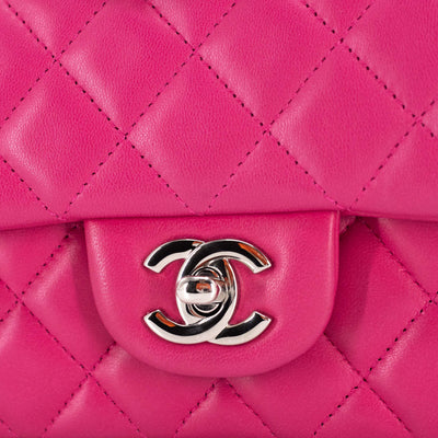 Chanel Quilted Rectangular Mini Fuchsia