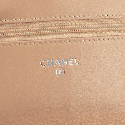 Chanel Patent Wallet on Chain Light Orange