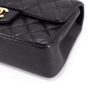 Chanel Quilted Caviar Rectangular Mini Pearly Charcoal