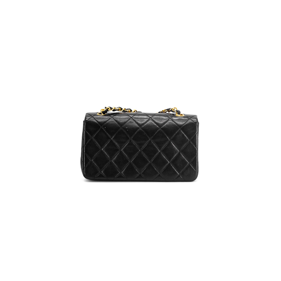 Chanel Quilted 24K Vintage Rectangular Mini Black