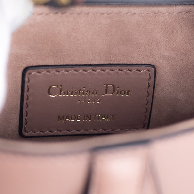 Dior Mini Saddle Bag Rose Taupe