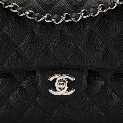 Chanel Quilted Caviar Small Classic Flap Black