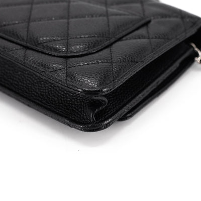 Chanel Quilted Caviar WOC Wallet on Chain Black