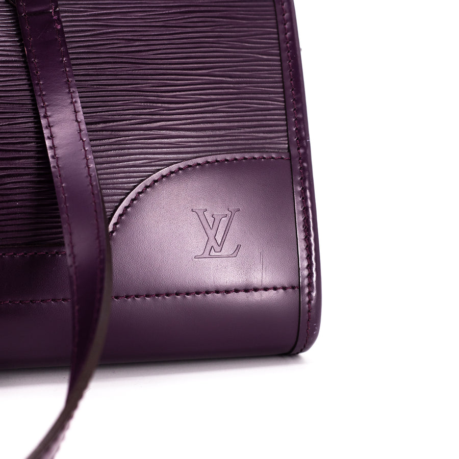 Louis Vuitton Madeline EPI Leather Dark Purple
