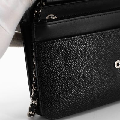 Chanel Caviar WOC Wallet On Chain Black