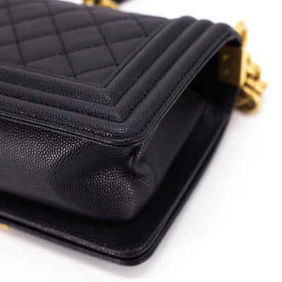 Chanel Quilted Small Boy Black